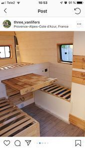 Photo of Pull out the table #pull out #Table #van life diy #van life diy how to build #va…
