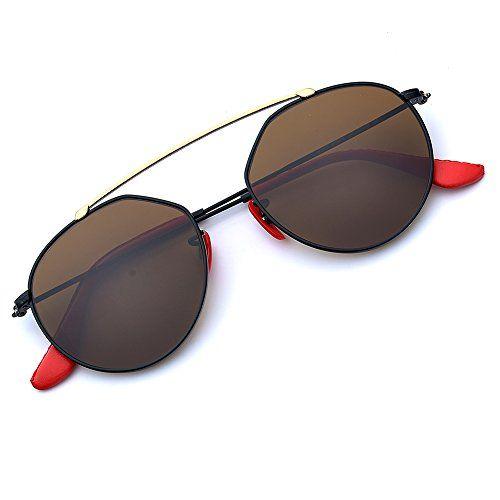 632e97d8a6 B.N.U.S BNUS Italy made Bridge Sunglasses Corning natural Glass lens  Genuine Leather Arms