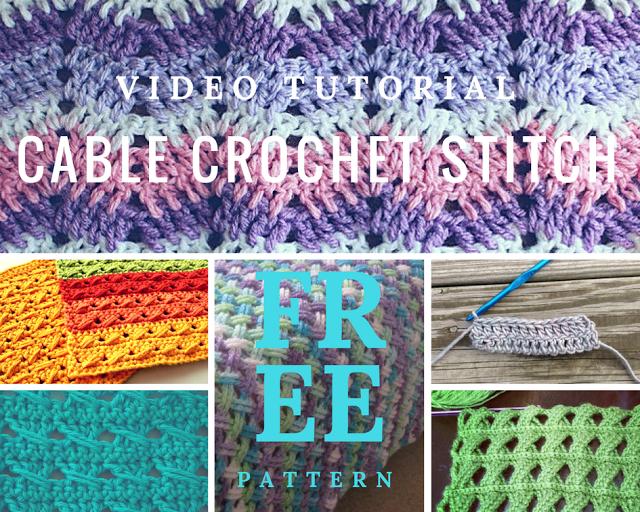 Cable Crochet Stitch - Stitches Crochet Patterns - Crochet Designs ...