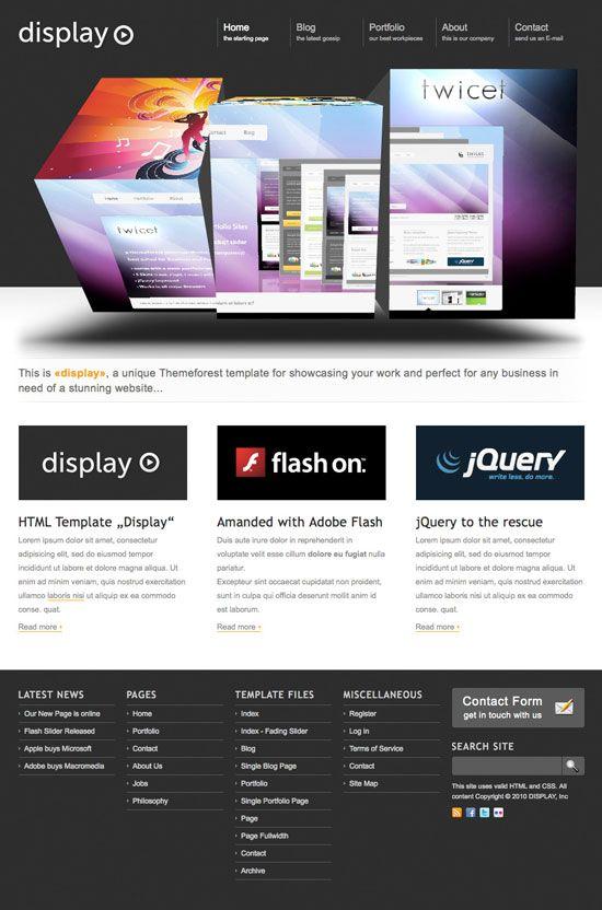 14 Amazing Portfolio Website Templates With 3d Slider Amazing