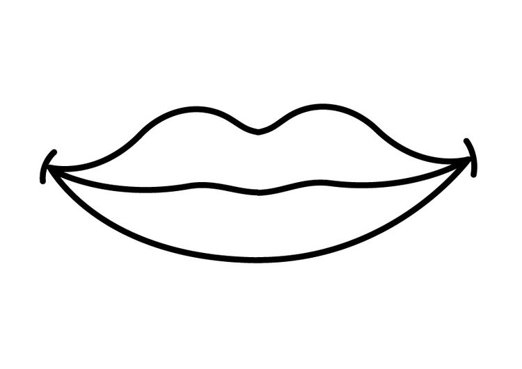 Kleurplaat Mond In 2021 Coloring Pages Mouth Clipart Coloring Pages For Boys