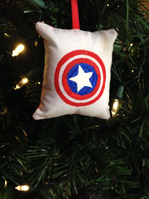 Captain America Christmas Tree Ornament Marvel Steve Rogers First Avenger Bucky How To Make Ornaments Christmas Tree Ornaments Christmas Decorations Ornaments