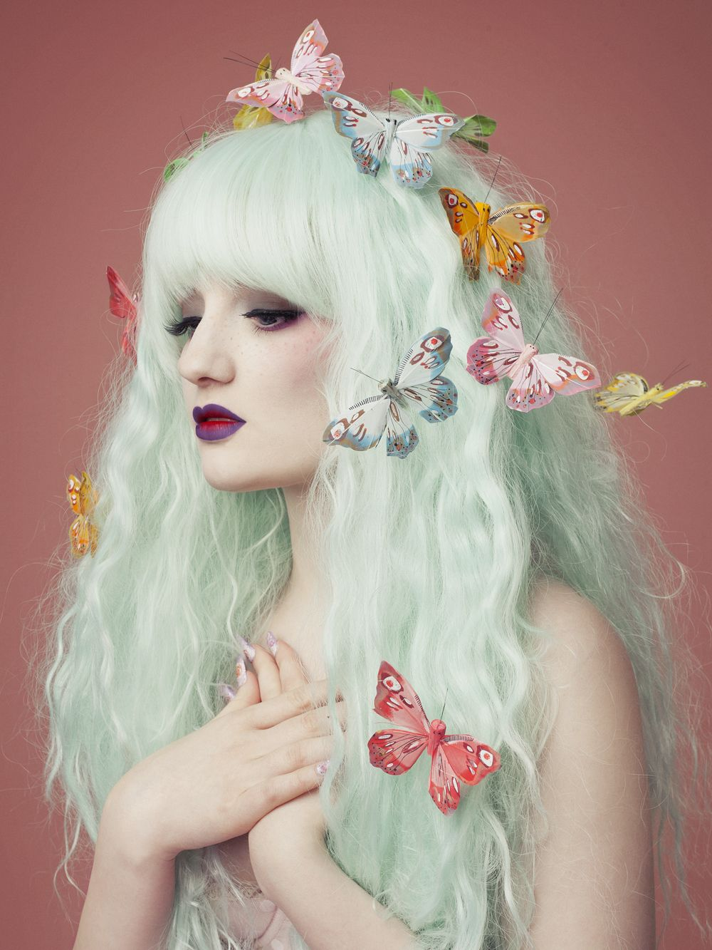 Photographer Tony Ottosson Styling Pastelbat Mint hair