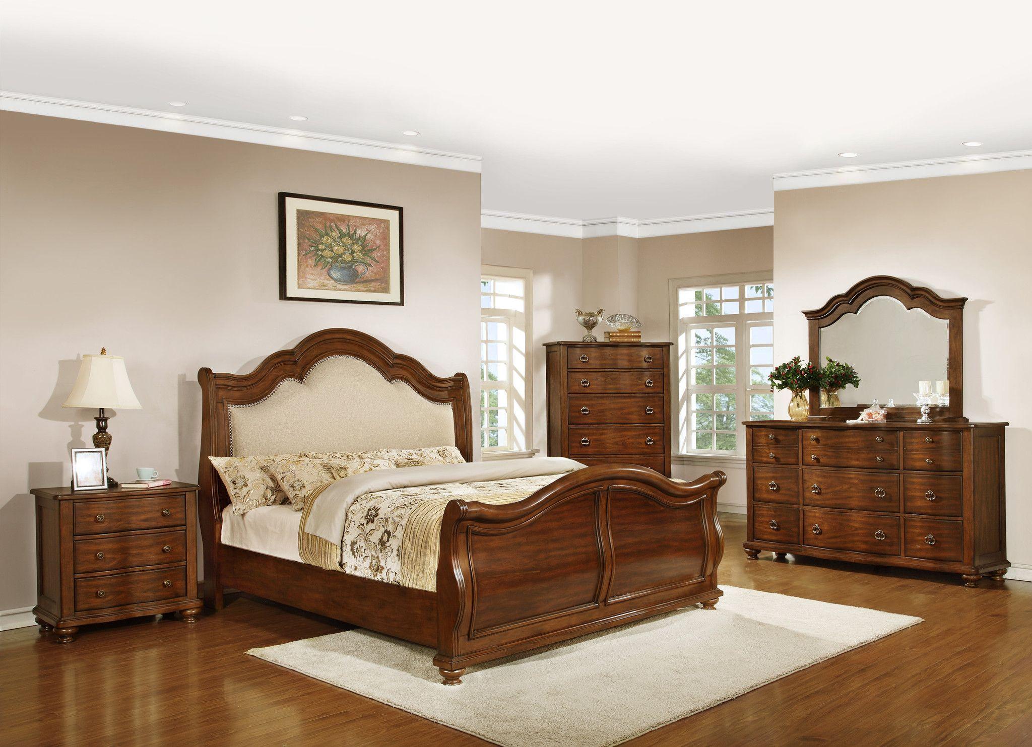 Davina 4Pc California King Bedroom Set 1837 Bedroom set