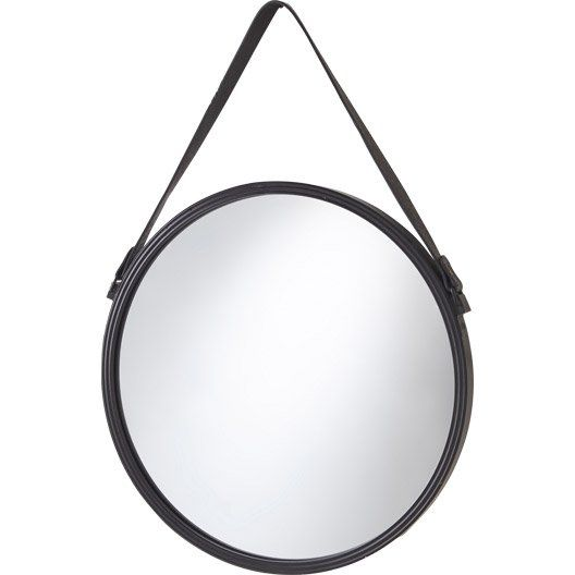 Miroir Barbier Noir L 39 X H 39 Cm Miroir Rond Miroir Miroir Rond Suspendu