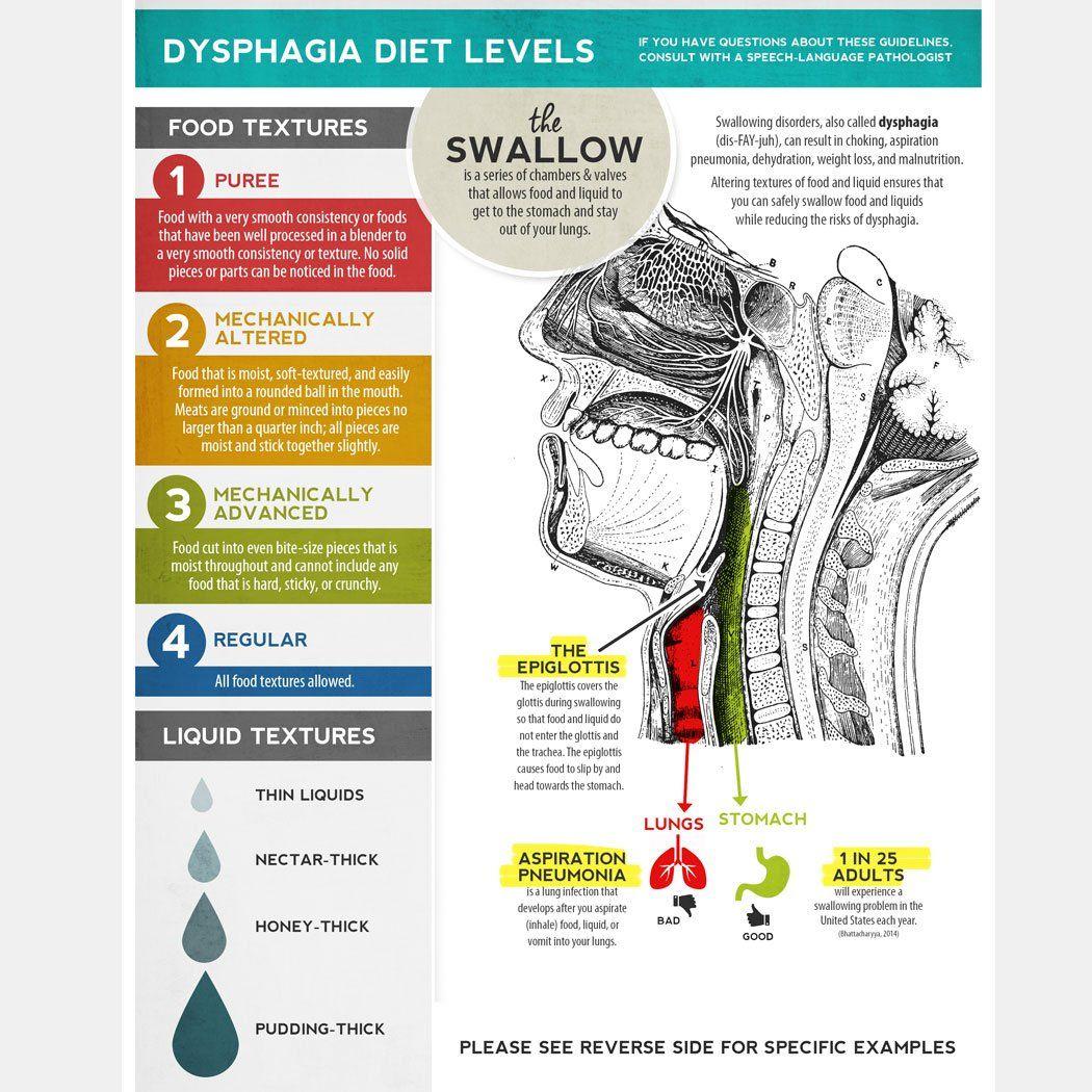 Handout Dysphagia Diet Textures Dysphagia Therapy Dysphagia Diet Dysphagia