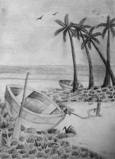 Pencil art gallery pencil shading scenery by vidhi patel