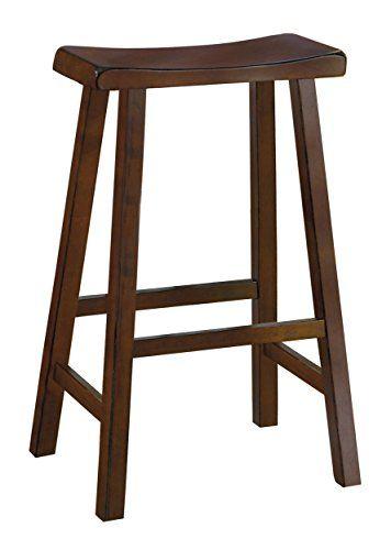 Homelegance 5302c 29 Saddleback 29 Inch Height Barstool Cherry Set Of 2 Counter Height Stools Bar Stools Homelegance