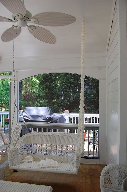 Hiding Ugly Swing Chains Quilting Porch Front Porch Decor