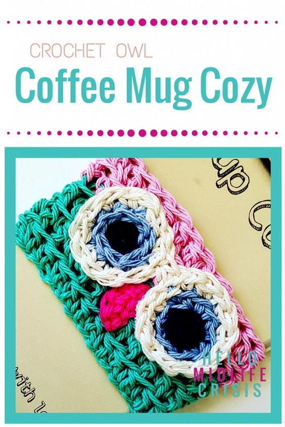 Crochet Owl Mug Cozy Pattern - easy quick and cute | búhos ...