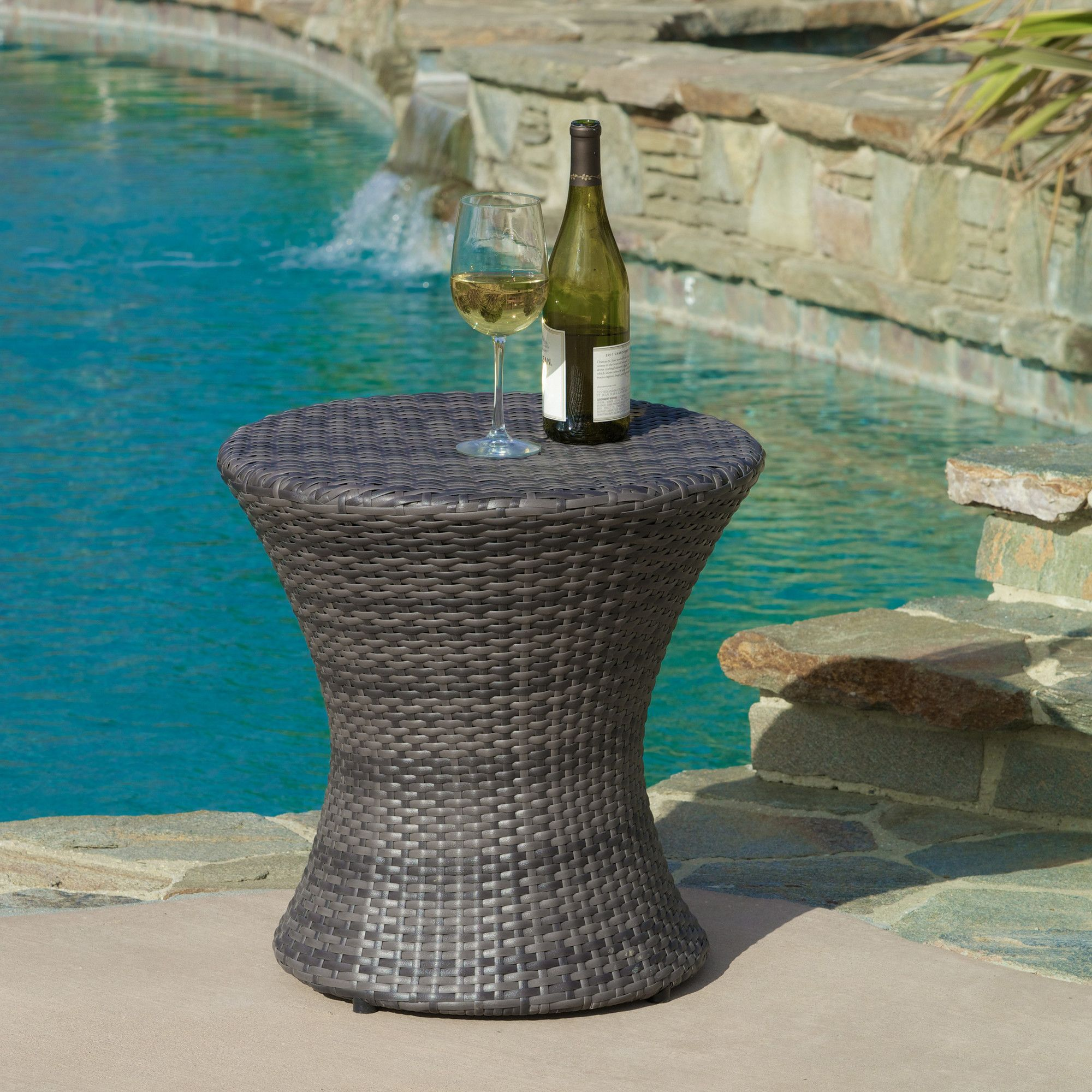 Rushmere Wicker Rattan Side Table Patio Side Table
