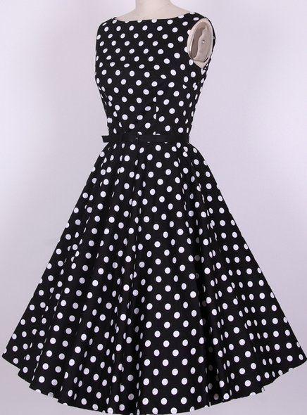 bdc90446ec13 Vestido vintage anos 50 Bolinhas - Produto 596977 | AIRU | Coisas ...