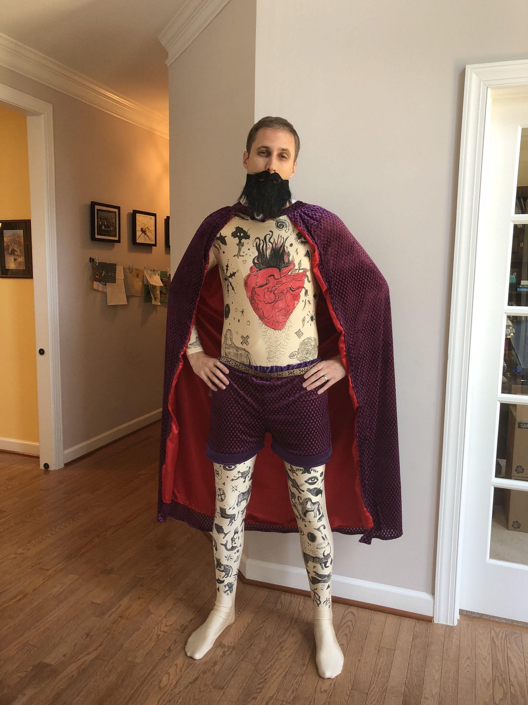 Greatest Showman Carnival Circus Tattoo Man Halloween