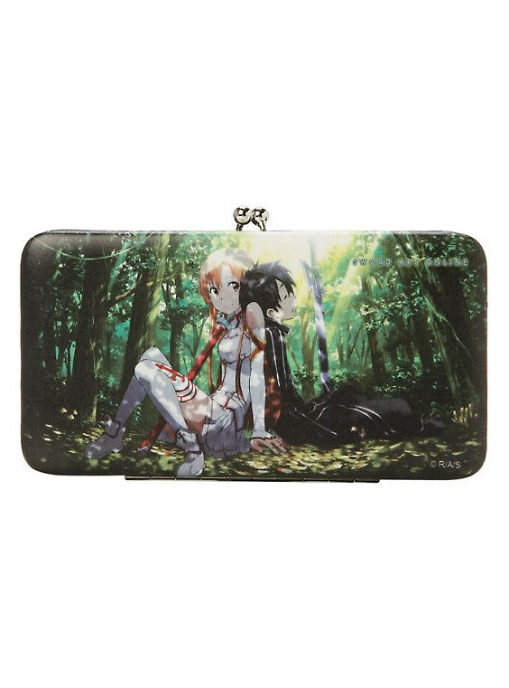 Sword Art Online Asuna and Kirito Hinge Wallet,