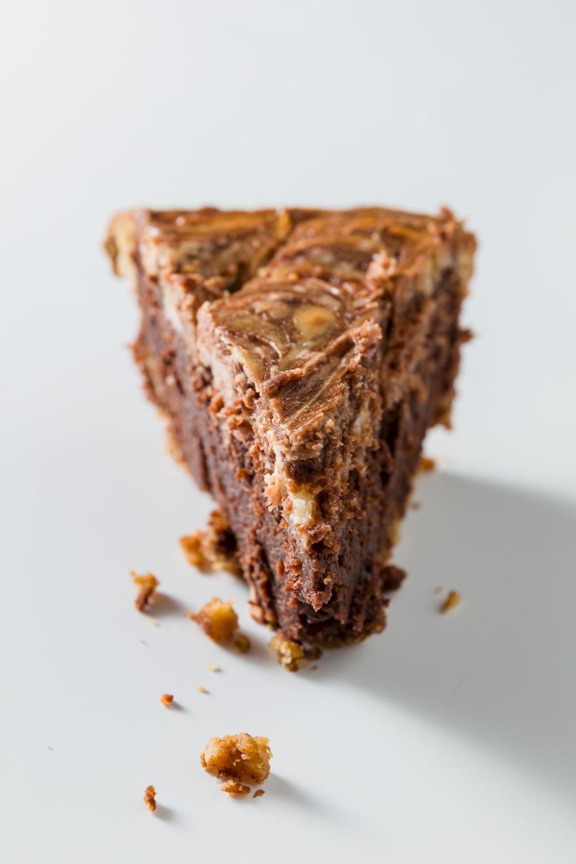 Cheesecake Brownie Pie with a Pretzel Crust Recipe in