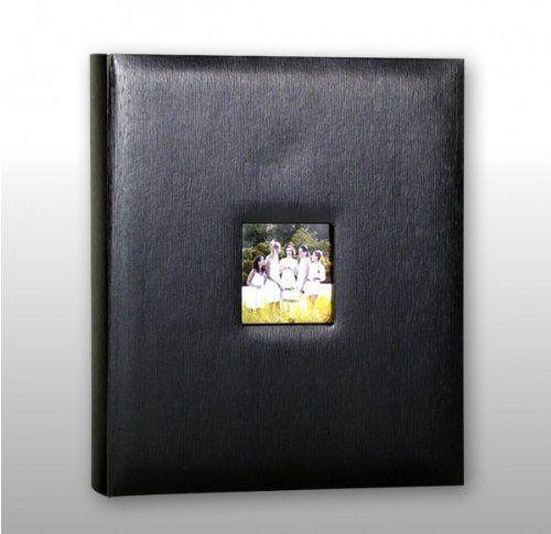 kleer-vu Fotoalbum, Kunstleder Riesige Sammlung, h�lt 500�10,2�x 15,2�cm Fotos, 5�pro Seite. Farbe: Schwarz.