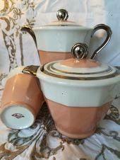 Kaffee  TeekannenSet Rosa und Silber Jugendstil Dreiteiliges Set Dekor à  Französisches Kaffee  TeekannenSet Rosa und Silber Jugendstil Dreiteiliges Set Dekor...
