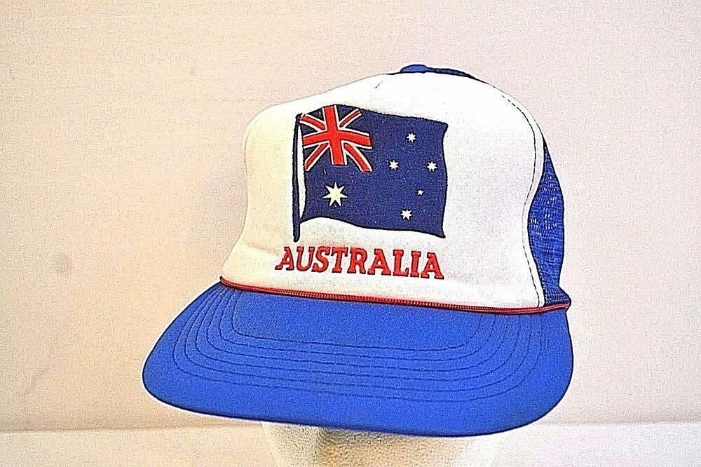 United States American Air Mesh Stretch Fit OSFM Navy NWT USA Flag Cap Hat U.S