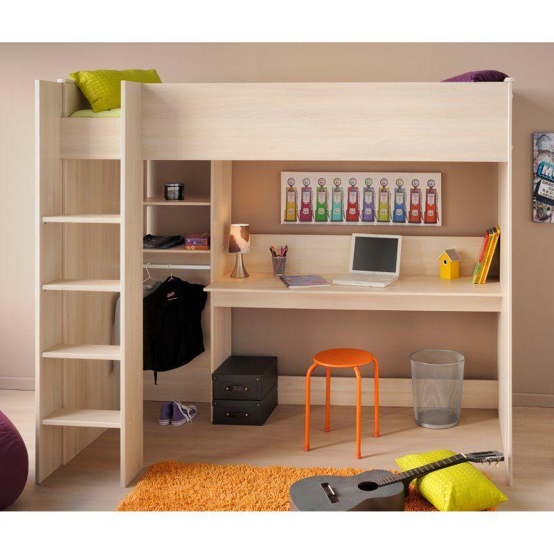 Parisot Kurt High Sleeper Loft Bed Childrens Bedroom Furniture Loft Beds For Teens Loft Bed