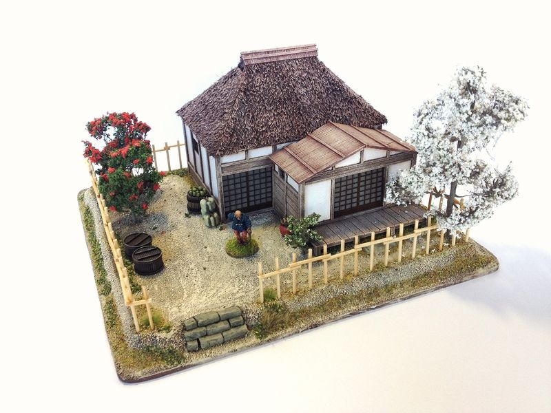 Jimu0027s generic samurai thread **040515 Low ranking samurai house - maquette de maison a construire