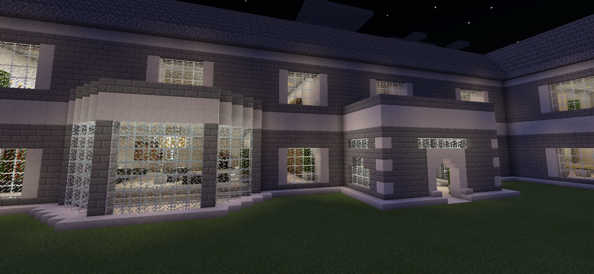 Minecraft Realistic Brick House With Balcony Creations