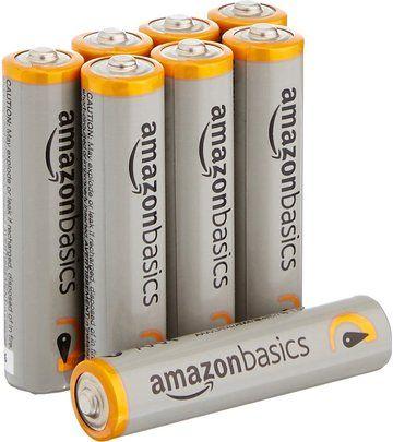 Amazonbasics Aaa Performance Alkaline Batteries 8 Pack Packaging May Vary Alkaline Battery Batteries Battery Sizes