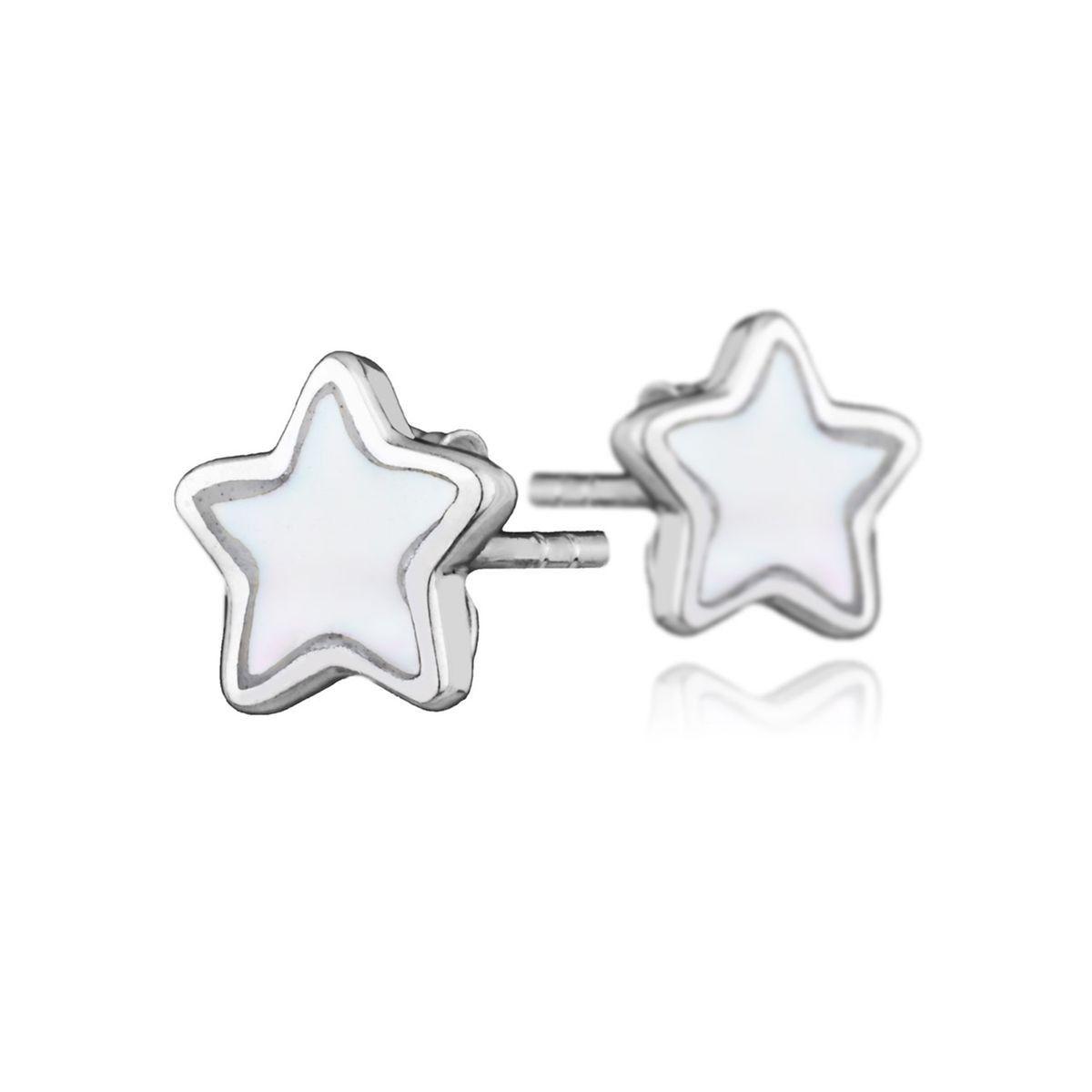 qualité authentique lisse utilisation durable Boucles D'oreilles Puces Étoile Les Intemporels En Argent ...