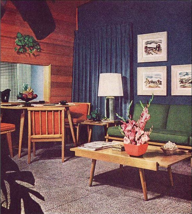 65 Cool Mid Century Living Room Decor Ideas: Vintage Home Decor Circa 1960-1970s