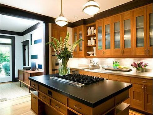 Craftsman Kitchen Design Entrancing Craftsman_Kitchen_Design_3 490×368 Dark On Island Light On Review