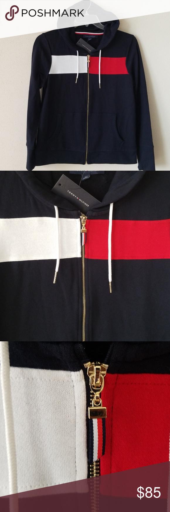 Tommy Hilfiger Zip Up Hoodie NWT Colorful hoodies
