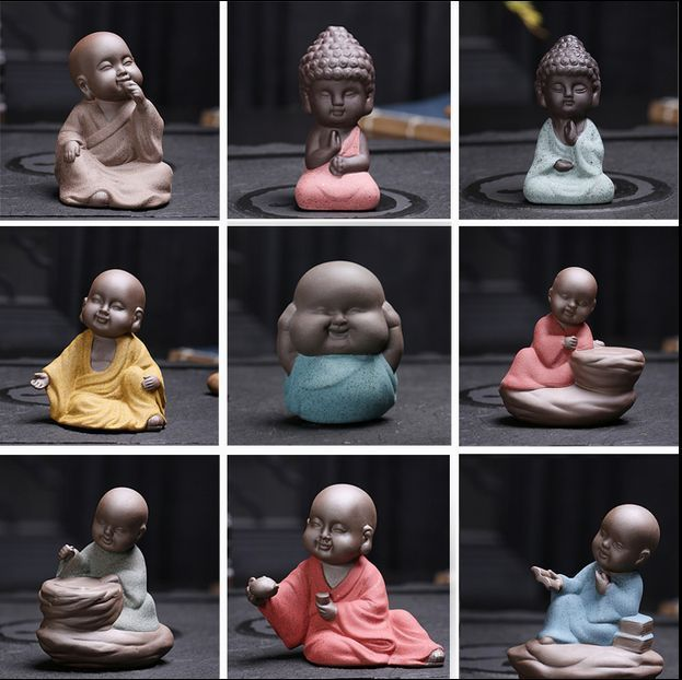 mini monk yixing zisha purple clay tea pet clearance sales Chinese tea play new