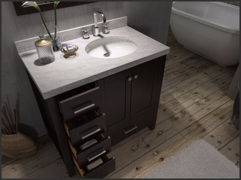 Luxury Bathroom Vanity With Right Offset Sink 42 Inch Bathroom