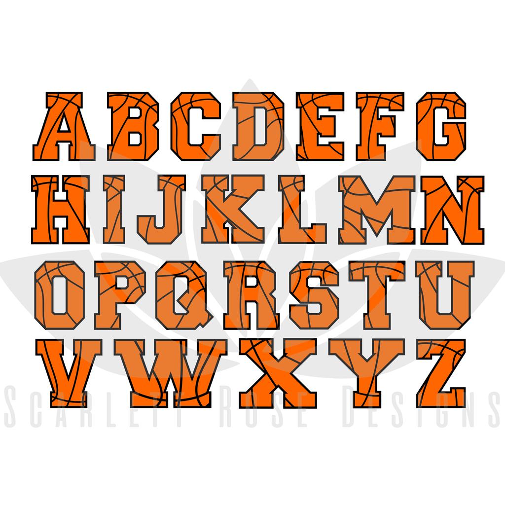 Image Result For Basketball Letters Font Basketball Rim Lettering Fonts Scrapbook Fonts