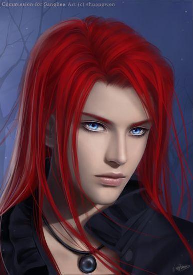 Ee802cbe387fa2e9c54baf5e727922f8 Jpg 387 550 Fantasy Art Men Red Hair Anime