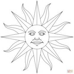 Image Result For Aztec Sun Stone Coloring Pages Drawings Sun