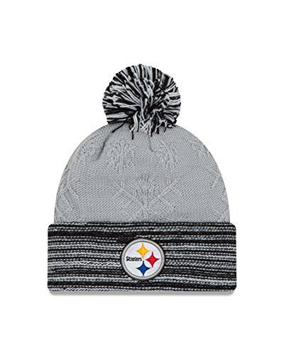 aa2aa84de546cd NFL Pittsburgh Steelers Womens Snow Crown Redux Knit Beanie One Size Gray  >>> Check out this great product.