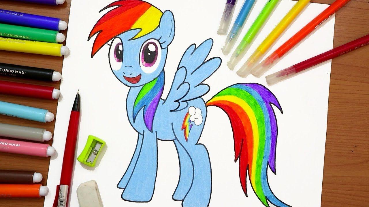 رسم رينبو داش من مهرتي الصغيرة My Little Pony Rainbow Dash Youtube