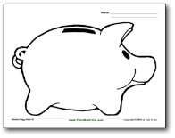 Piggy bank coloring page elementary savings pinterest for Piggy bank coloring page