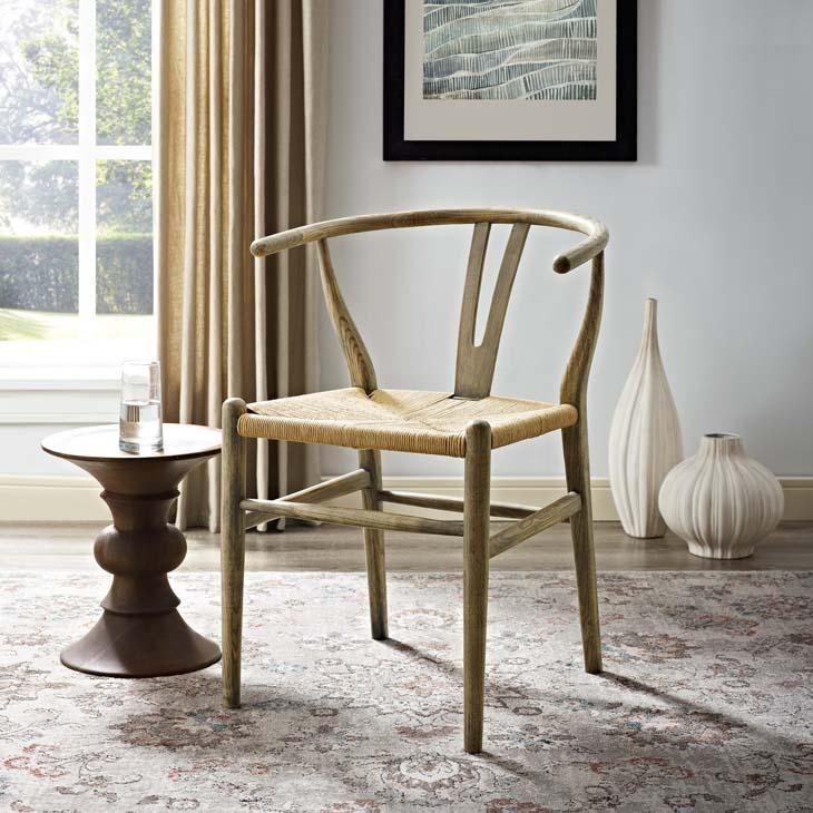Weathered Grey Wishbone Dining Chair Wood Side Chair Side Chairs Side Chairs Dining