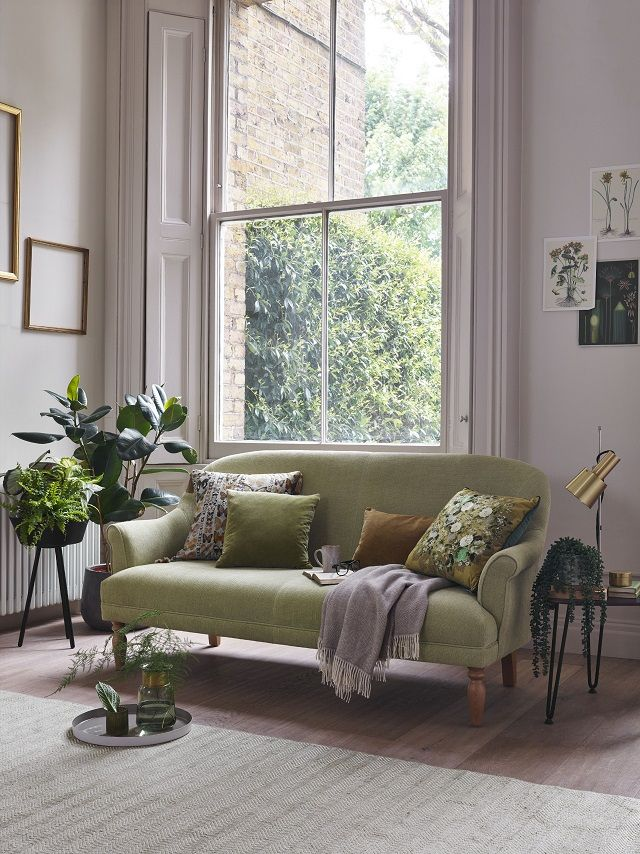 The Lover 2-seater sofa in Linen Cotton Pistachio (Willow & Hall, £1,060)