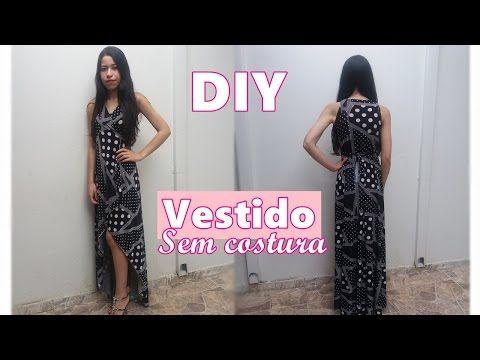 b759bee1b DIY Como fazer Vestido Multiuso Sem Costura - YouTube