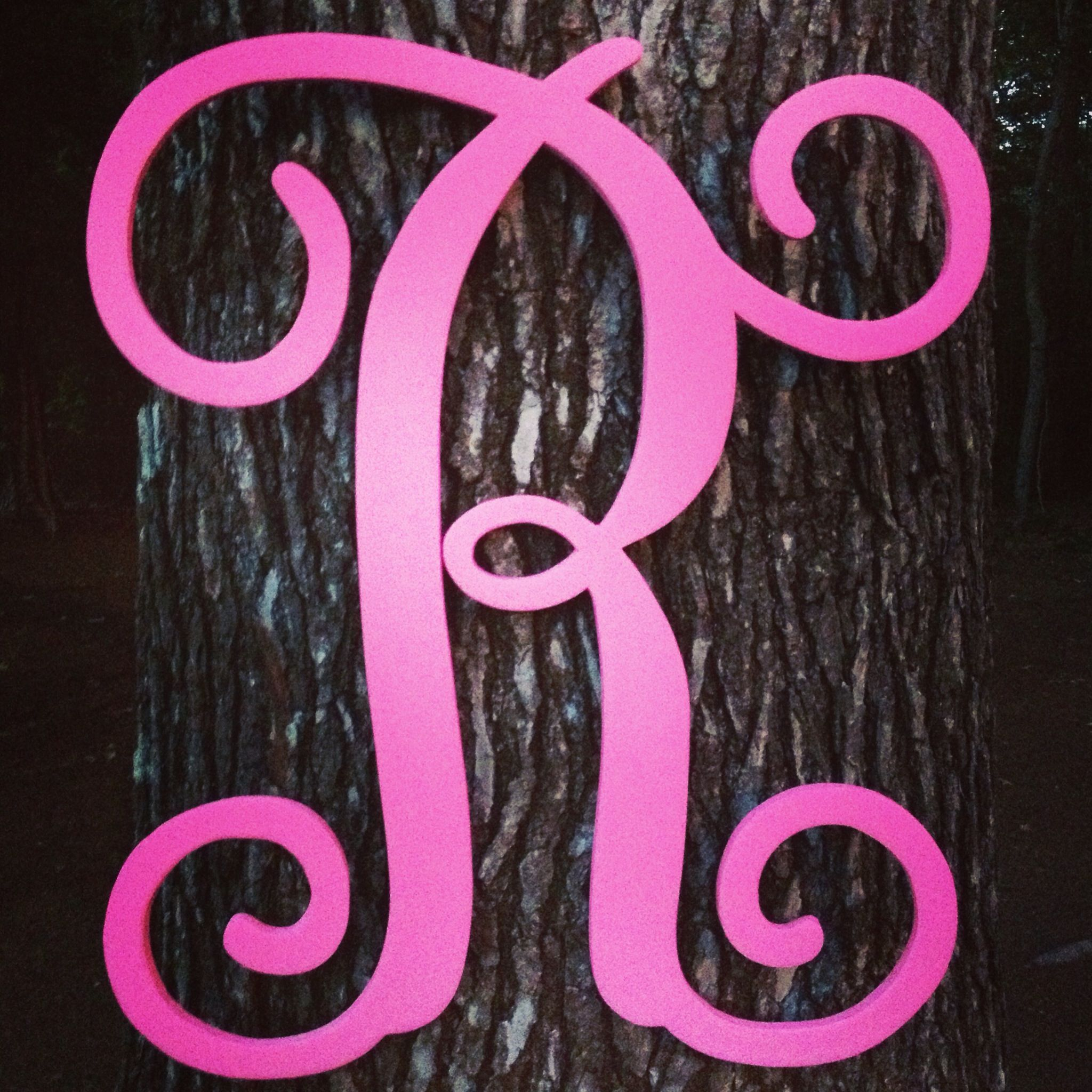 Script Initial Monogram. $35.00. Any letter and color can be done ...