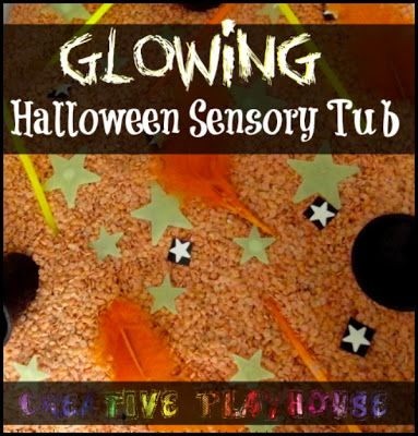 Creative Playhouse: Glowing Halloween Sensory Tub