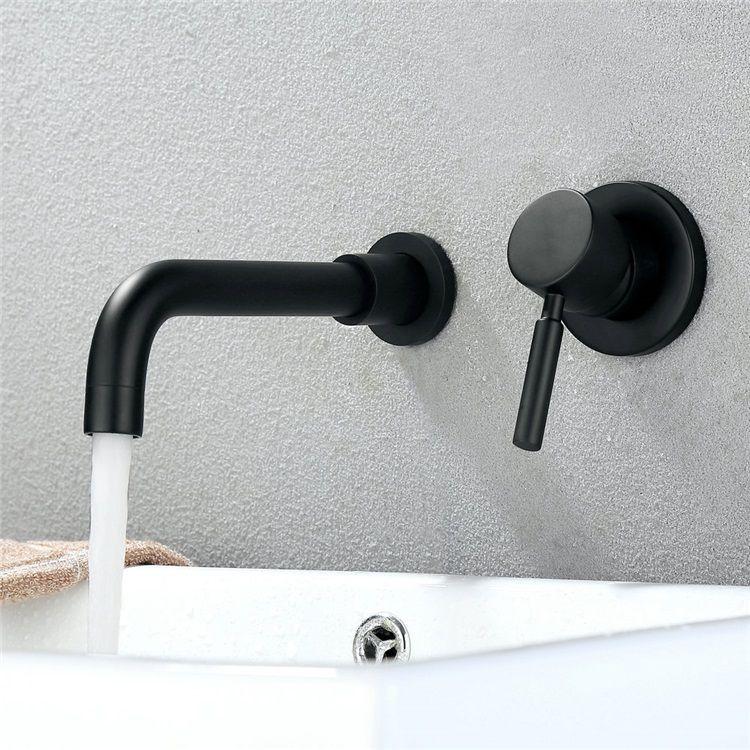 壁付水栓 バス水栓 洗面蛇口 水道蛇口 冷熱混合水栓 ハンドル別掛け