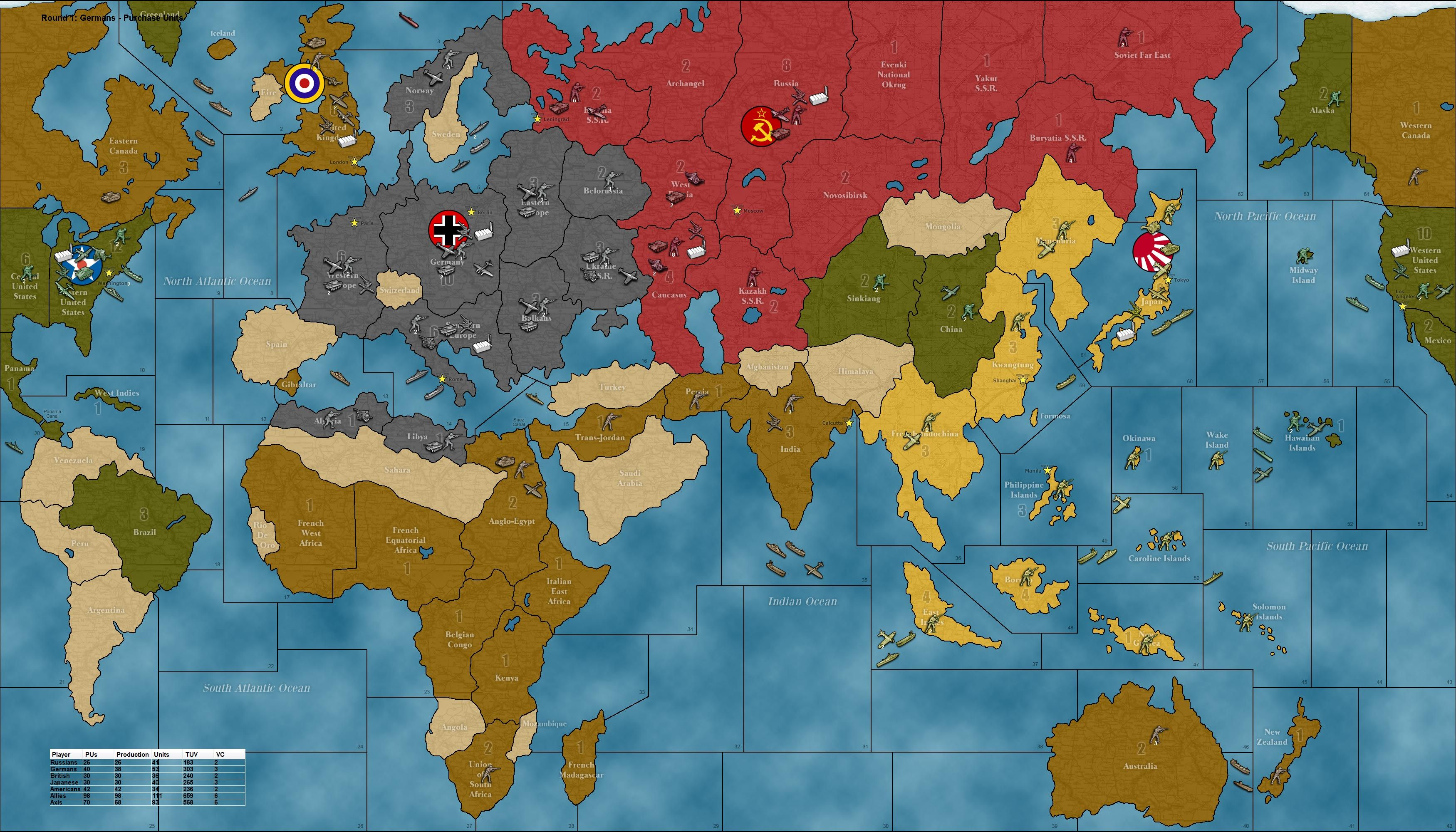 Axis And Allies Board Game invited! Punch was served