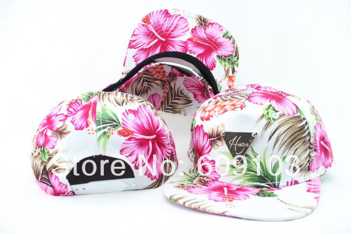 Free Shipping 2014 Spring/Summer Flower Hater Snapback Baseball Caps hats $11.00