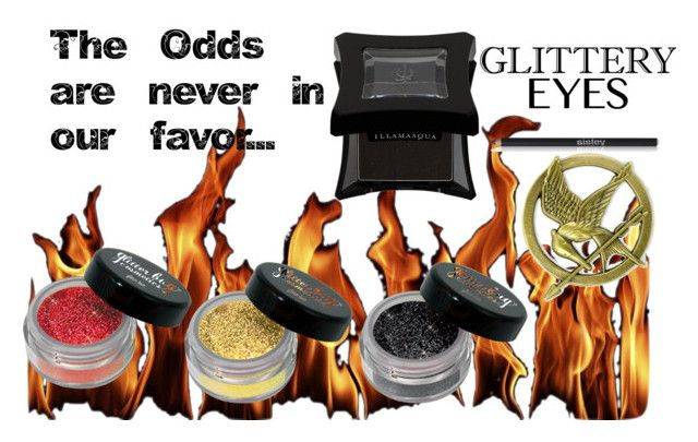 The Odds Are Never in Our Favor by guinandgrace on Polyvore featuring beauty, Illamasqua, Sisley Paris, Hungergames, glittereyes, guinandgrace and OtakuDesigns