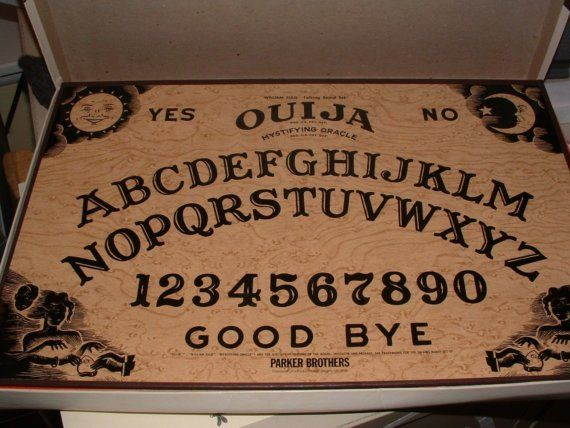 One Vintage Ouija Board Game By Parker Brothers Sale Price Board