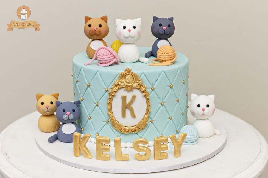 Kitty Cake By The Sweetery By Diana Tap The Link Now To See All Of Our Cool Cat Collections Birthday Cake For Cat Birthday Cake Girls Cat Cake