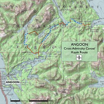 Cross Admiralty Canoe/Kayak Route